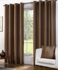 Albergo - Bronze Eyelet Curtain #1