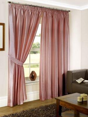 Albergo - Pink Pencil Pleat Curtain #1