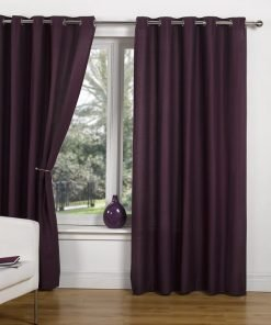 Canvas - Plum Eyelet Curtain #1