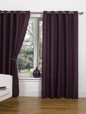 Canvas - Plum Eyelet Curtain #1