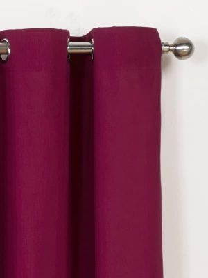 Canvas - Raspberry Eyelet Curtain #2