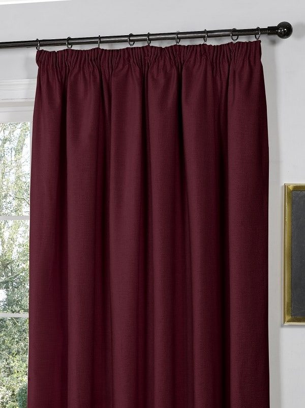Berry Pencil Pleat Curtains (Pair) // Galway Collection - Homefords