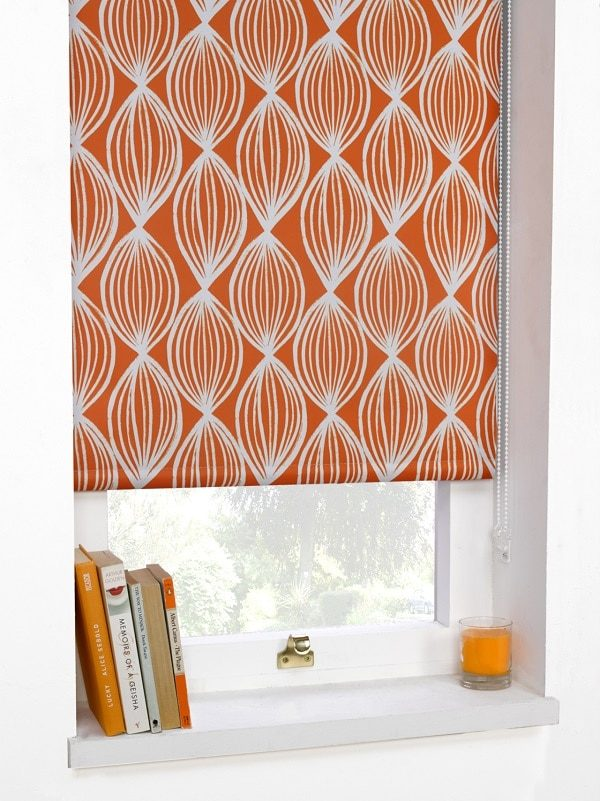 Orange Blackout Roller Blind Orla Collection Homefords