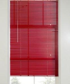 Red Venetian Blind