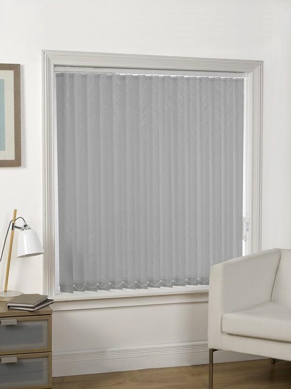grey watermark vertical blind slats only box of 4. Black Bedroom Furniture Sets. Home Design Ideas