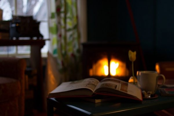 Open Fire in Living Room
