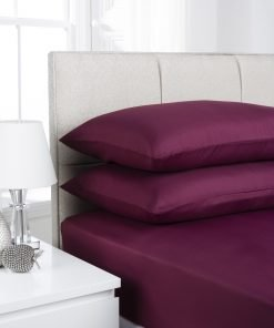 Aubergine Plain Dyed Bedding