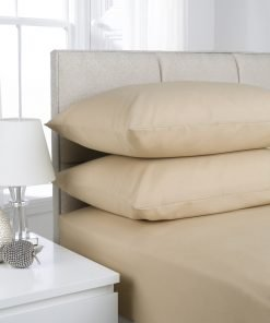 Beige Plain Dyed Bedding