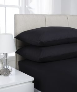 Black Plain Dyed Bedding