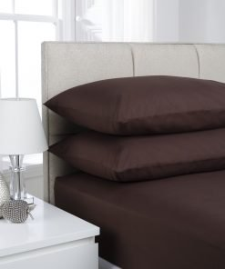 Chocolate Plain Dyed Bedding