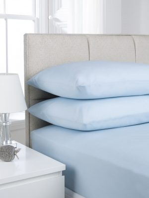 Ice Blue Plain Dyed Bedding