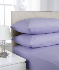 Lilac Plain Dyed Bedding