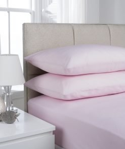 Pink Plain Dyed Bedding