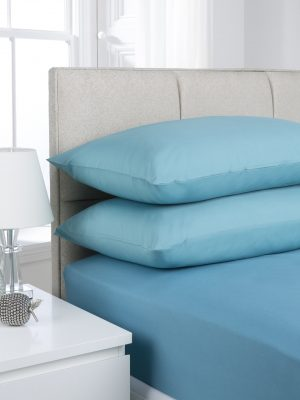 Teal Plain Dyed Bedding
