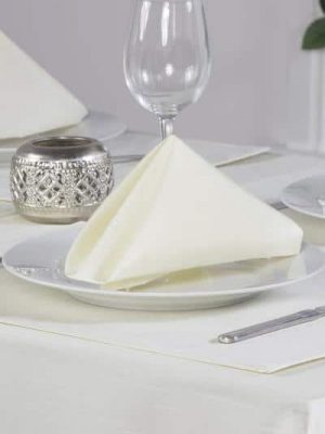 Cream Faux Silk Napkin