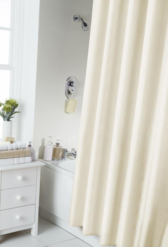 Cream Shower Curtain Ring Set
