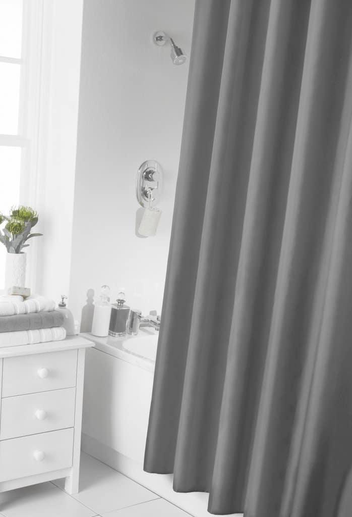 Dove Grey Shower Curtain