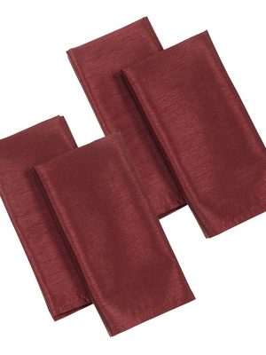 Faux Silk Burgundy Napkins