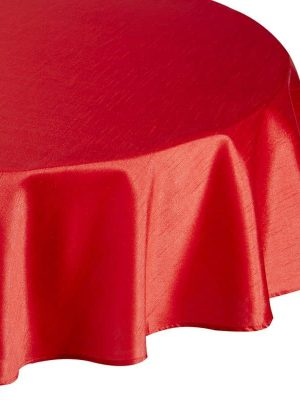 Faux Silk Red CircleTC