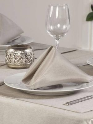 Latte Faux Silk Napkin