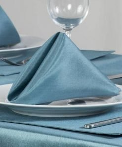 Teal Faux Silk Napkin