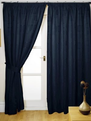 Black Pencil Pleat Lombardy Curtains