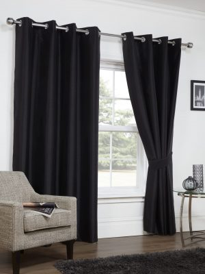 Faux Silk Blackout Black