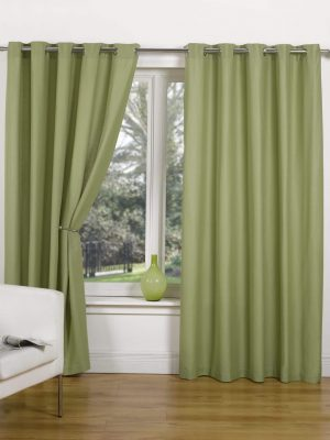 Green Canvas Ring Top Curtain