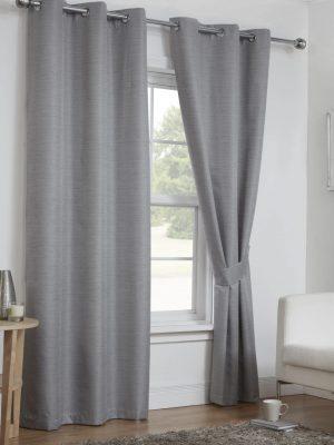 Grey Moonlight Eyelet Curtains