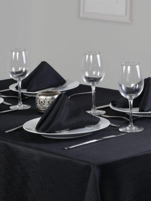 Black Linen Look Dining Set