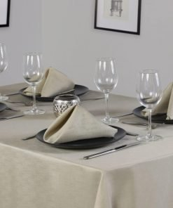 Linen Look Latte Dining Set