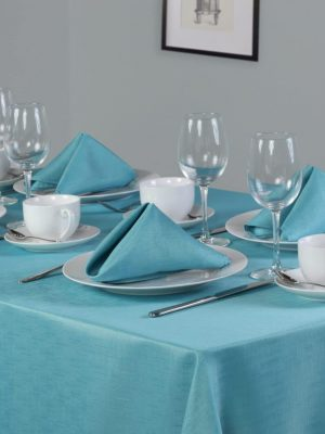 Teal Linen Look Dining Set