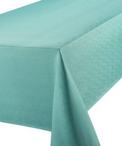 Linen Look Teal Tablecloth