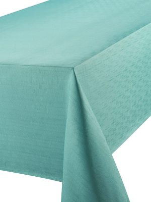 Linen Look Teal Tablecloth