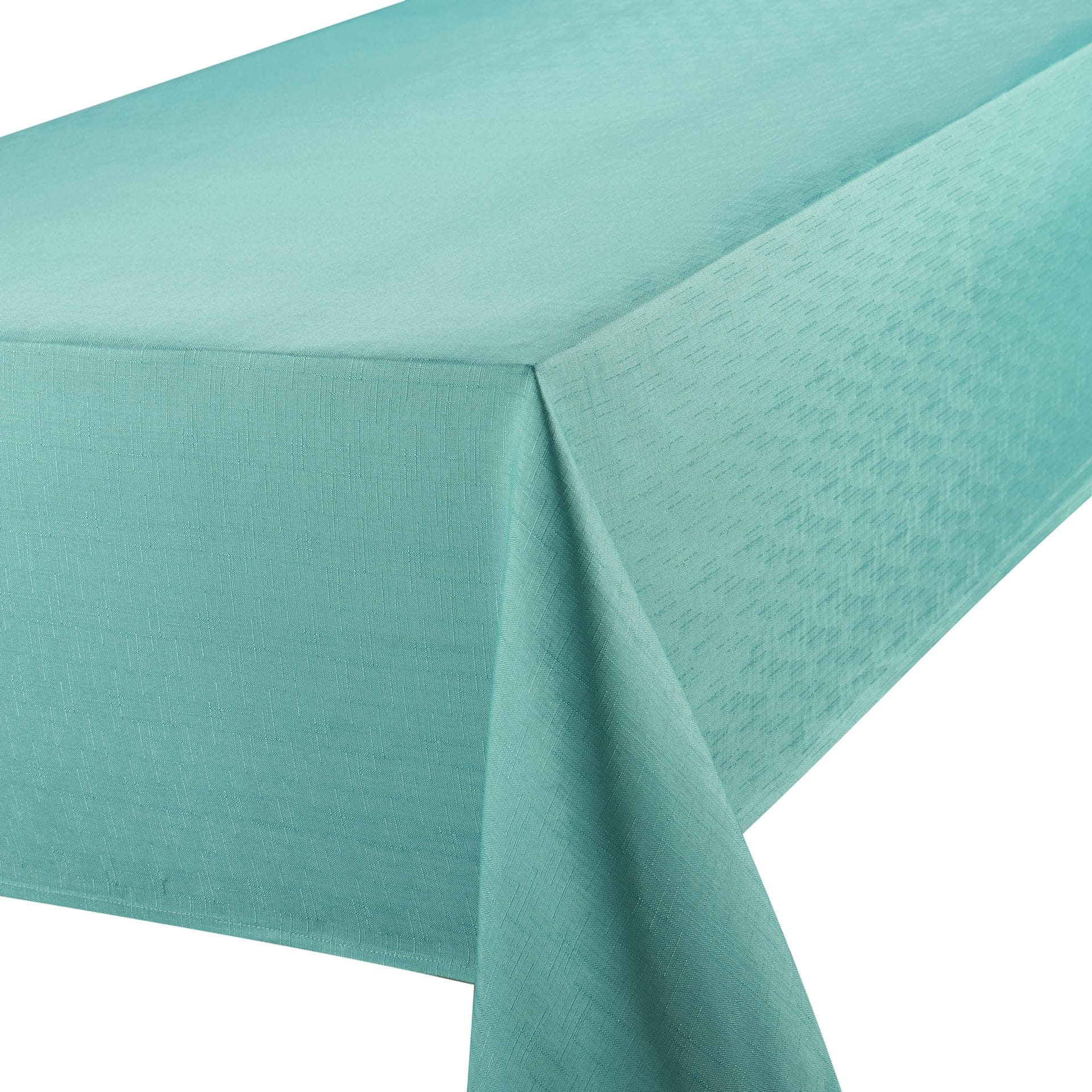 Teal Tablecloth Oblong Linen Look Homefords