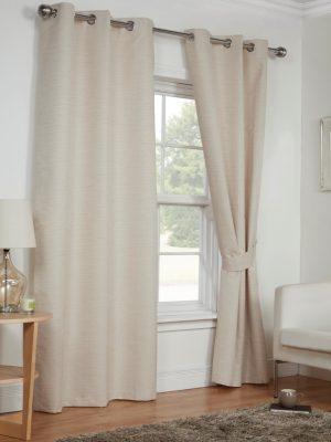 Cream Eyelet Moonlight Curtains