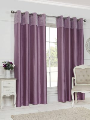 Pink Eyelet Grace Curtains