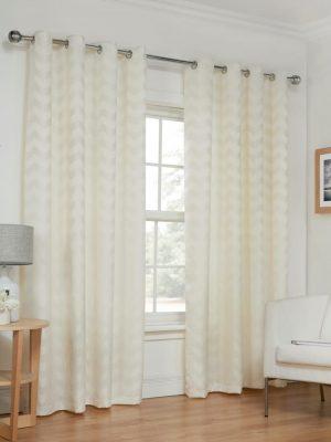Natural Wave Eyelet Curtains
