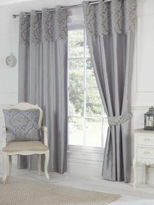 Richmond Grey Eyelet Curtains
