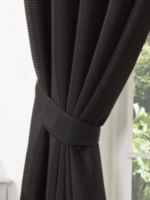 Black Textured Tiebacks