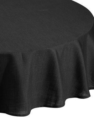 Classic Black Circle Tablecloth
