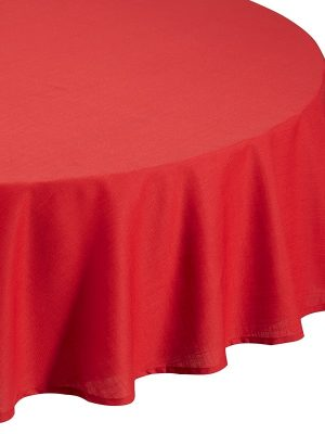 Classic Red Circle Tablecloth