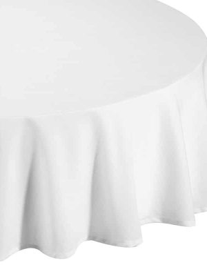 Classic White Round Tablecloth