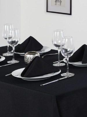 Classic Black Tablecloth