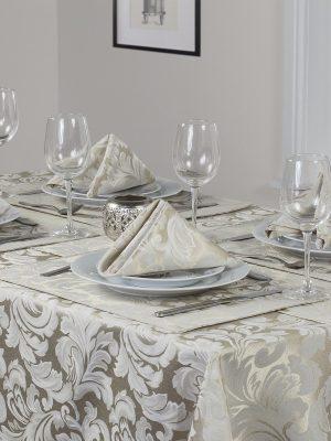 caleta champagne tablecloth