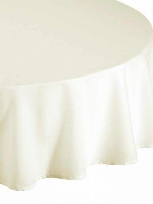 classic cream circle tablecloth