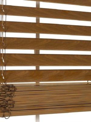 Faux Wood Blind Walnut crop