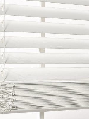 Faux Wood Blind White crop