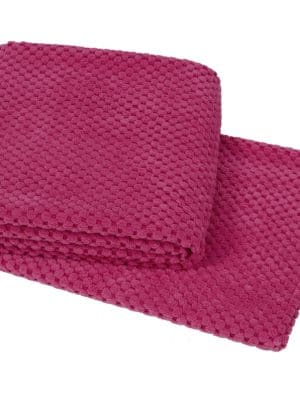 Hyygelig pink throw