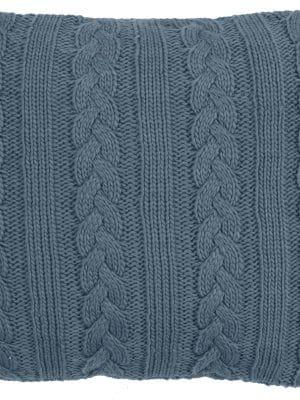 knitted plait blue cushion